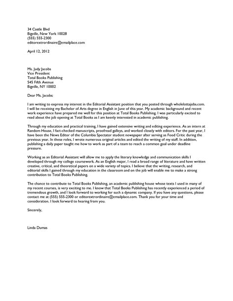 Cover Letter For Book by Sle Cover Letter To Publisher Application Cover