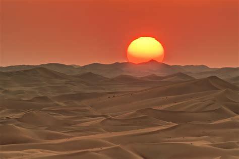 Sun Desert Landscape Wallpapers Hd Desktop And Mobile