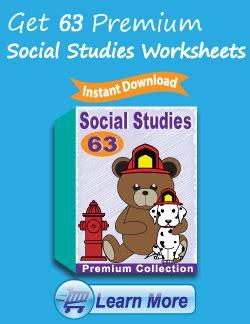 kindergarten social studies worksheets learning