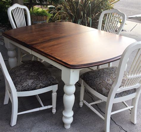 linen milk paint and java gel stain dining set general