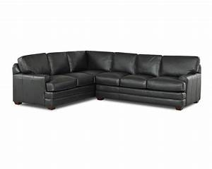 Black Leather L Shaped Sofa Leather Reclining Sectional