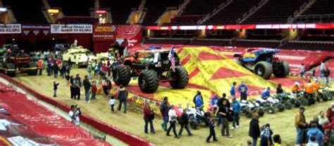 monster truck jam cleveland ohio cleveland monster jam show and pit party review and promo