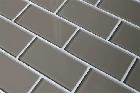 manhattan taupe brown 3 quot x 6 quot glass subway tile