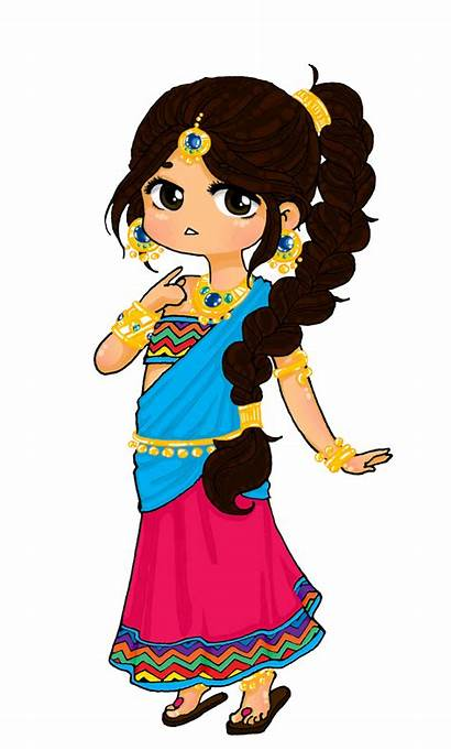 Indian Princess Oc Transparent India Drawing Chibi