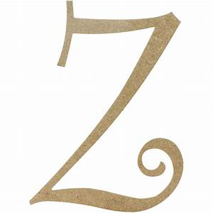 14quot decorative wooden curly letter z ab2170 for Wooden letter z