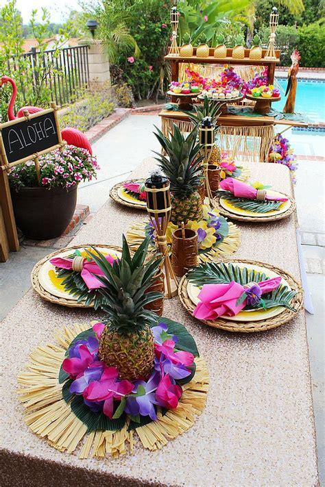 diy pineapple centerpieces kiora luau centerpieces