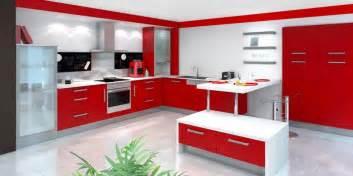 Les Suspendues Cuisine by Cuisine Rouge Et Blanche 13 Id 233 Es Et Conseils Pour L Agencer