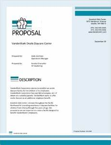 daycare center sample proposal 5 steps With daycare business proposal letter