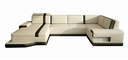 Living Furniture Leather Sectional Sofa Modern Bed