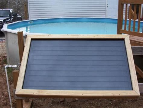 Do-it-yourself Solar Swimming Pool Heater