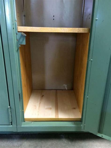 making wooden locker shelves    home