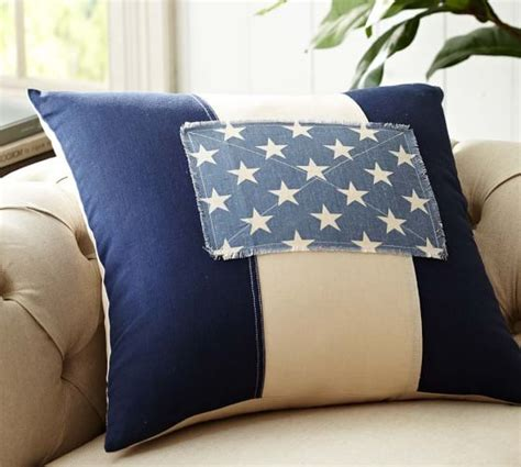 american flag pillow american flag patchwork pillow cover pottery barn
