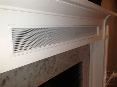 craftsman style mantel  storage close   removeable speaker panel   small