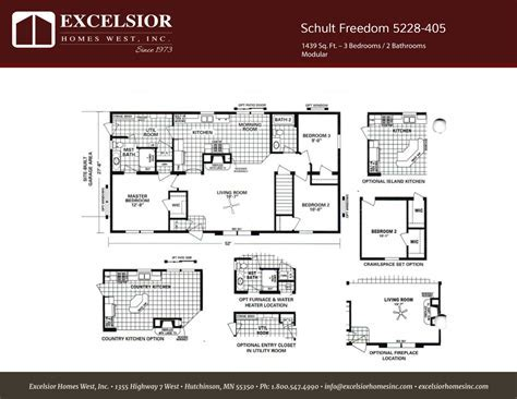 Schult Freedom 405 Modular/Manufactured   Excelsior Homes