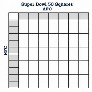 foot ball square template printable 10 line football With super bowl 2015 squares template