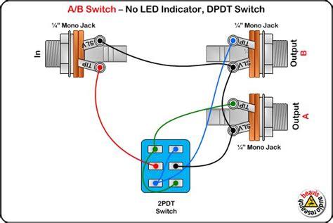 ab switch wiring diagram  led dpdt switch diy