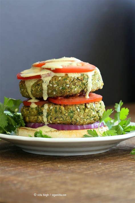 easy vegan falafel burger recipe recipes  cook