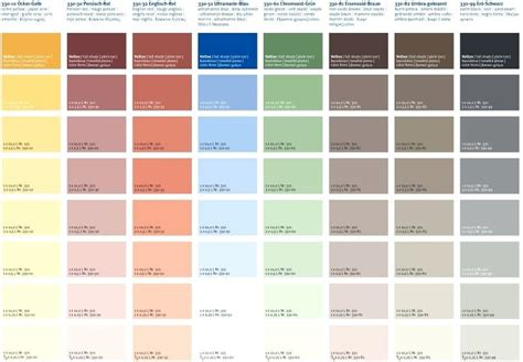 farbpalette wandfarben obi farbkarten