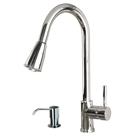 """Contemporary 16"""" Pulldown Spray Kitchen Sink Faucet With"""