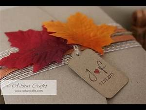 handmade autumn fall themed wedding invitation youtube With handmade fall wedding invitations ideas