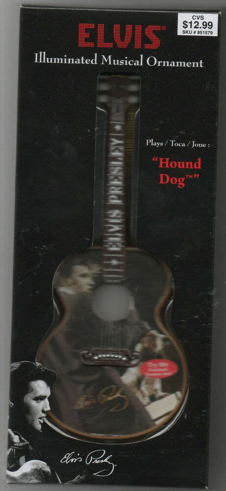 walgreens musical christmas large ornament elvis 2010 limited edition musical ornament plays hound ebay