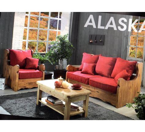 canapé style montagne canape 3 places tissu alaska 3480
