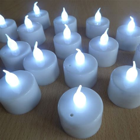 battery operated tea lights led battery operated tea lights white base and white