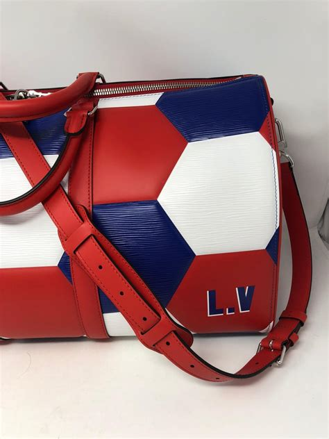 louis vuitton fifa world cup soccer keepall  bag  stdibs