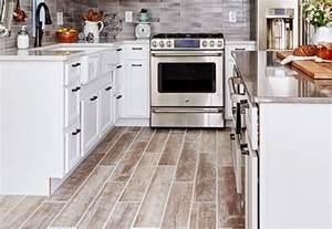 Wood Look Tile Flooring Kitchen