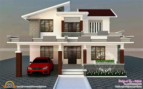 Low Cost Contemporary Style Villa  Kerala Home Design And