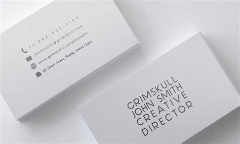 Minimalist White Business Card Template By Nik On