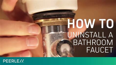 remove  bathroom faucet youtube