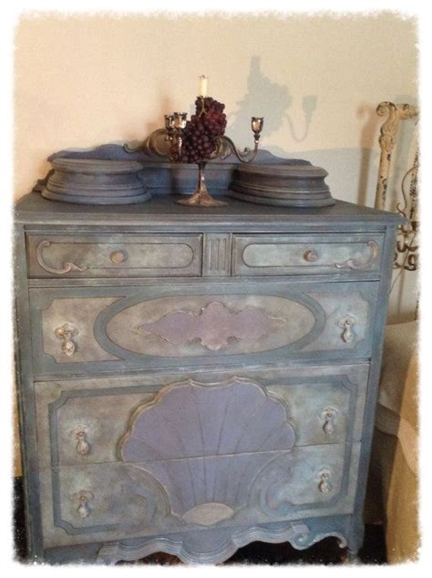 Antique Blue Dresser French Country Dresser Shabby Chic