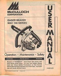 Eager Beaver Chainsaw Manual