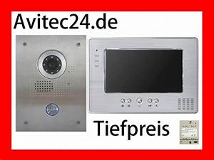 Edelstahl Video Türsprechanlage : edelstahl video t rsprechanlage mit 7 zoll monitor kamera von sony ~ Sanjose-hotels-ca.com Haus und Dekorationen