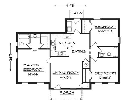 3 Bedroom House Plans Simple House Plans, Small Easy To