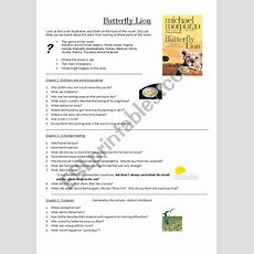 Butterfly Lion Chapter 13  Esl Worksheet By Kellycoetzer