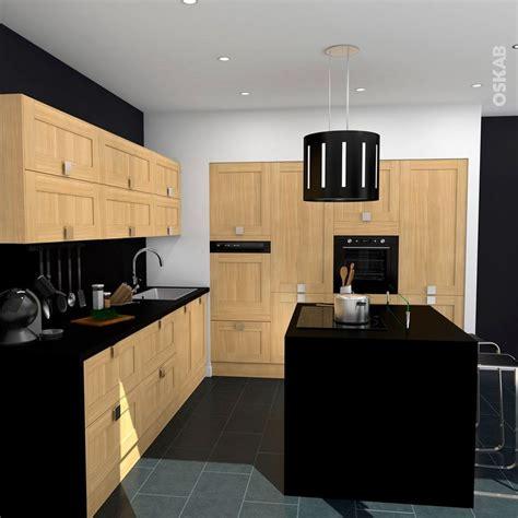 cuisine four a bois cuisine bois verni rustique modèle basilit bois verni