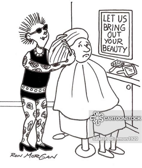 hairdressing cartoons  comics funny pictures
