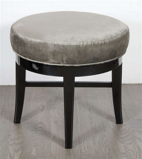 mid century modernist swivel vanity stool with x