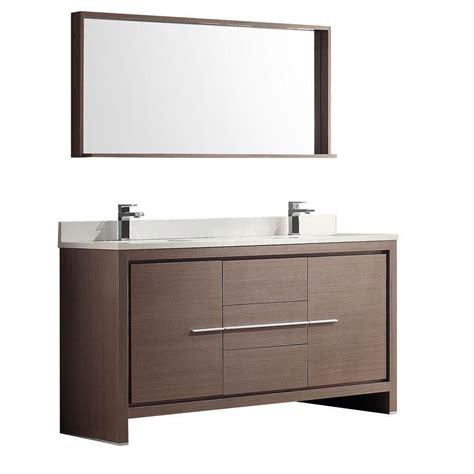 fresca allier     drawer  door vanity  grey