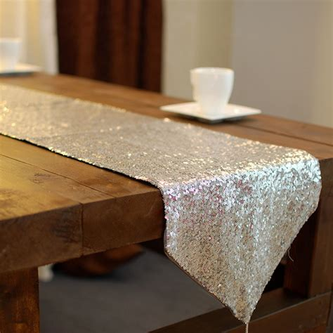 silver glitter table runner aliexpress com buy silver sequin table runners for