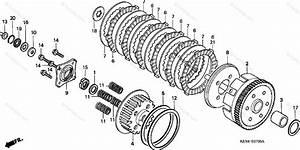 Honda Motorcycle 2001 Oem Parts Diagram For Clutch