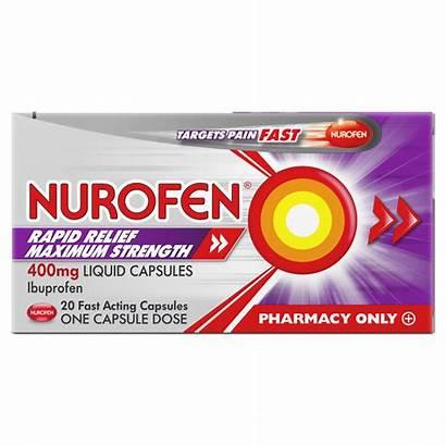 Nurofen Rapid Capsules Relief 400mg Liquid Strength