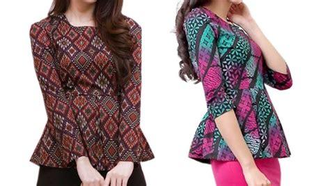 Datang Bulan Pada Wanita Inilah Model Baju Atasan Batik Untuk Wanita Di Tahun 2018