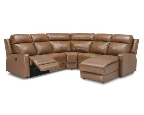 reclining sectional sofa reclining leather sectionals be seated leather furniture