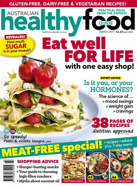 magazines cuisine magazine healthy food guide march 2017 australia read