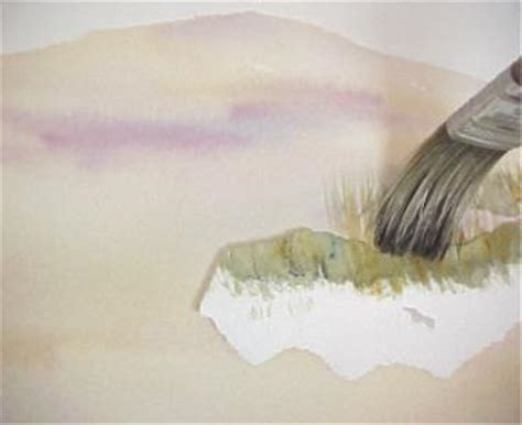 how to paint sand and beach grass in watercolor tips by