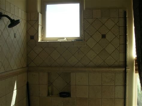 Arizona Tile Prescott Az by Tumbled Travertine Shower Bathrooms