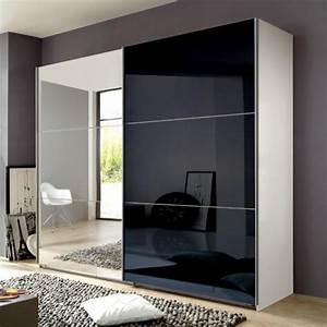 Kleiderschrank Weiß Spiegel : 270cm h 236cm schlafzimmerschrank glas schwarz wei kleiderschrank spiegel ebay ~ Frokenaadalensverden.com Haus und Dekorationen